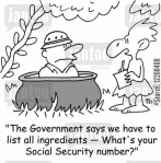 'The Government says we have to list all ingredients - What's your social security number?'
